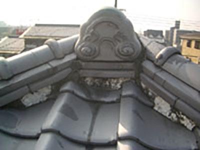 屋根漆喰やり替え