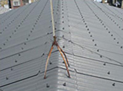 倉庫スレート屋根遮熱塗装